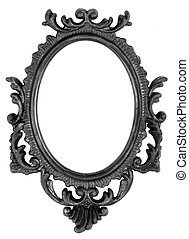 Retro Revival Old Ellipse Black Frame - Old Ovall Picture...
