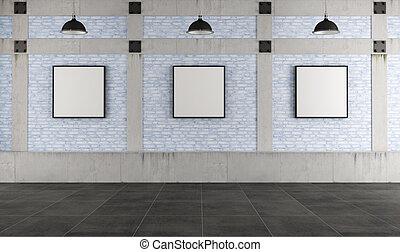 Modern art gallery in a loft