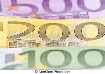 200, euro, soldi, macro