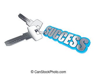 key to success on a white background