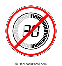 sign prohibiting timer