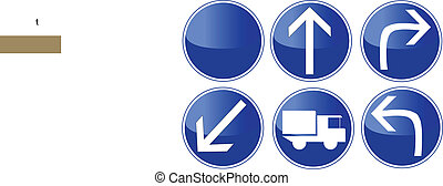 006 Traffic Sign - Turn, isolated on white