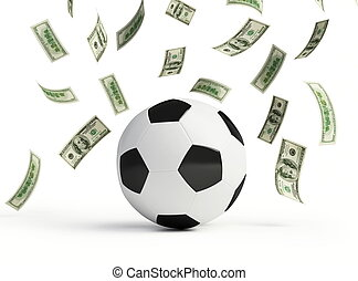 make money on football on white background