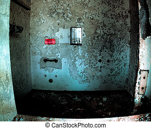Abandoned Bathroom - Frightening shower in abandoned mental...