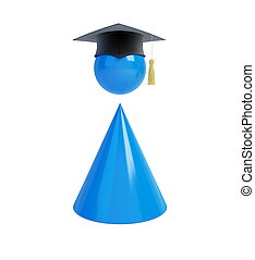 people graduation cap on white background