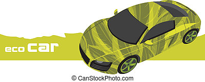 Eco car. Icon for design