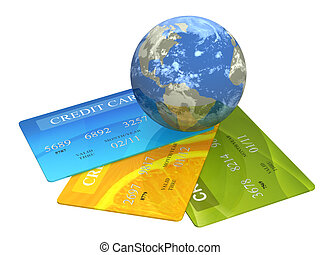 Credit cards - Conceptual image - global business