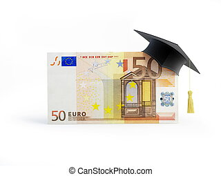 Education euro Business School on a white background