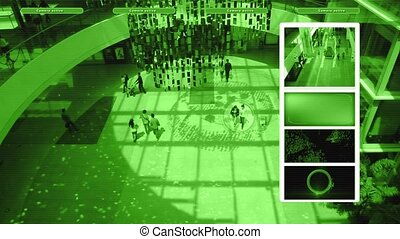 Surveillance video in shopping mall