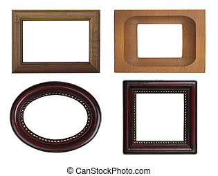 Classic wooden frames - the set of classic wooden frame...