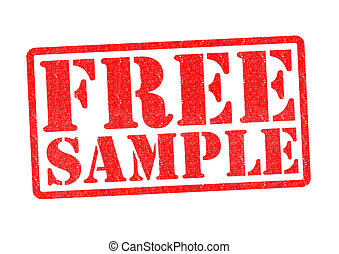 FREE SAMPLE Rubber Stamp over a white background