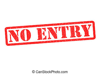 NO ENTRY Rubber Stamp over a white background