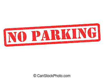 NO PARKING Rubber Stamp over a white background.