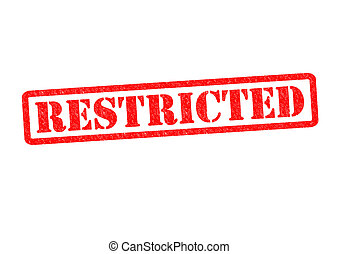 RESTRICTED Rubber Stamp over a white background.