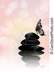 zen stones in wellness spa