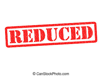 REDUCED Rubber Stamp over a white background.