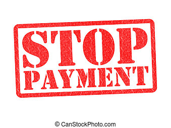 STOP PAYMENT Rubber Stamp over a white background.