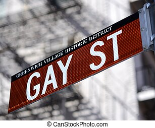 Gay St in New York Cityy - Gay Street in the Greenwich...