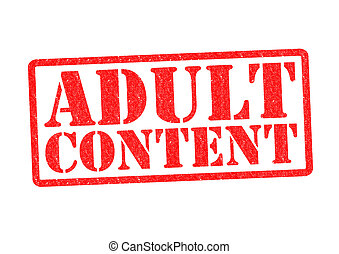 ADULT CONTENT Rubber Stamp over a white background.