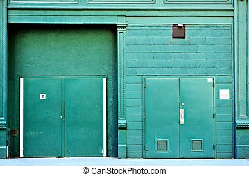 Back Alley Door - Delivery access in a back alley in New...