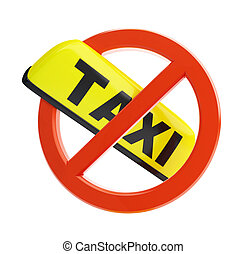 no taxi sign - no taxi sigin on a white background