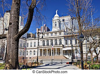City Hall of New York City - City Hall building of New York...