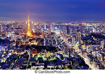 Tokyo Skyline - Skyline of Tokyo, Japan