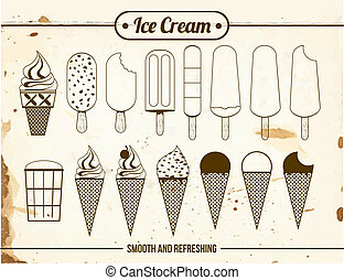 Vintage Icons of ice cream