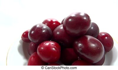 close up cherry presentation