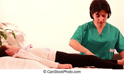 Physiotherapy for children to legs