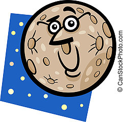 funny mercury planet cartoon illustration - Cartoon...