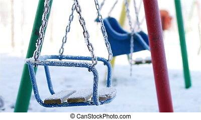 Swings in winter park
