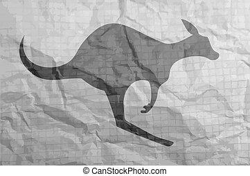 Old kangaroo symbol