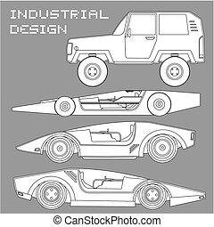 Car vector design - Creative design of car vector design