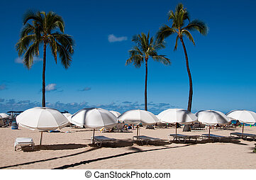 Waikiki Beach - Famous Waikiki Beach on the Hawaiian island...