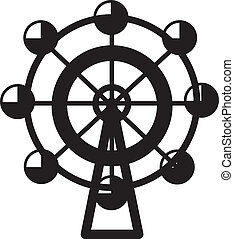Ferris Wheel  - Small isolated ferris wheel silhouette