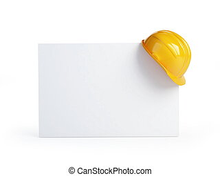 construction helmet blank form on a white background