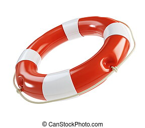 Life Buoy on a white background - Life Buoy isolated on a...