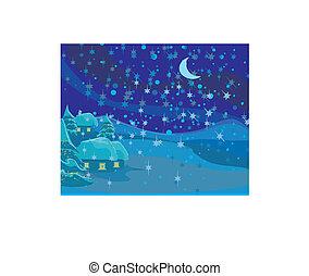 winter landscape, Christmas scene