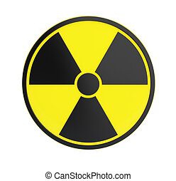 radioactivity sing on a white background - radioactivity...