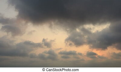 storm clouds - time lapse storm clouds at sunset