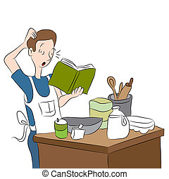 Confused Cook - An image of a confused cook