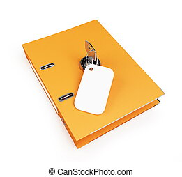 security office folders on a white background