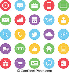 colorful business and ecommerce icons set vector