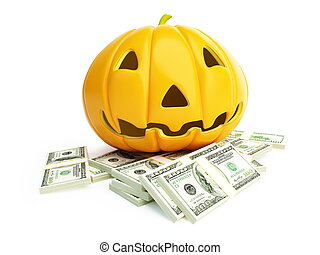 money Halloween - money spent on the celebration of...