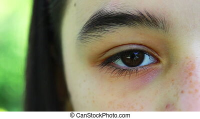 Girl Eye Close Up