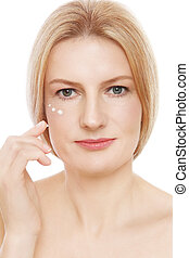 Mature beauty - Portrait of mature beautiful healthy woman...