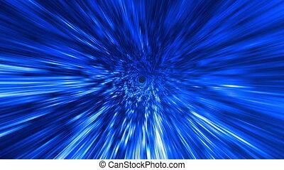 Star Burst Rays Vortex Blue BG