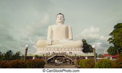 Big Buddha at Bentota, Sri Lanka - Video 1920x1080p - Big...