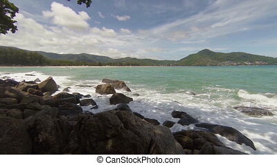 View of the sea Thailand, Kamala - Video 1920x1080p - View...